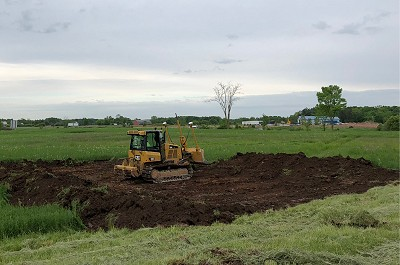 Land being excavated to prepare to construct Hager