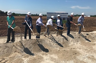 Salm Partners team breaking ground on new Hager location.